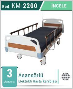 Elektrikli Hasta Karyolası / Hasta Yatağı çeşitleri üretilen firmamızdan hasta yatakları kiralama hizmeti de alabilirsiniz.
