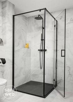 Deze zwarte regendouche van Ben Lavion is een echte eyecatcher dankzij de geborsteld zwarte kleur. De XXL regendouche is helemaal compleet inclusief een moderne handdouche en thermostaat. De thermostaat heeft een koele behuizing waardoor je je niet kan verbranden. De royale hoofddouche (25cm) biedt extra comfort met een zachte regenstraal. #zwarteregendouche #douchekraan #badkamertrend #benlavion #industriëlebadkamer #doucheruimte  Bathroom Wall Decor, Bathroom Layout, Modern Bathroom Design, Bathroom Interior Design, White Bathroom, Small Bathroom, Guest Bathroom Remodel, Bathroom Inspiration, Industrial Bathroom