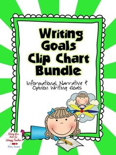 A bundle of narrative, opinion and informational writing goal clip charts! The set includes mini charts for students to keep in their writing folder to keep them focused on their goal!