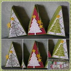 pie pieces to create a Christmas tree
