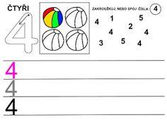 Pro Šíšu: Čísla - pracovní listy Kids Learning Activities, School Ideas, Infant Learning Activities, Numbers Preschool