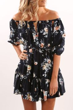 Walk The Moon Dress Navy Floral