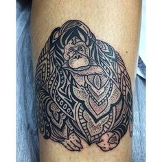 Tattoo done by @linaborneoink #orangutan #dotwork #tattoo #borneoink #iwasborneoinked #eternalink