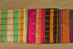 Different kind of borders obtained in each saree.