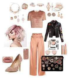 """Peachy 🍑"" by kae-mitch on Polyvore featuring Edun, Raey, Steve Madden, Head Over Heels by Dune, Red Camel, Michael Kors, Tartesia, Allurez, Pasquale Bruni and Ron Hami"