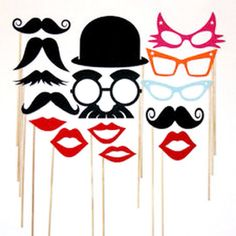 Just ordered these for the Big Wig Shindig!  Best Party Photo Booth Props Set  15 Piece by PhotoPropAttic, $14.95