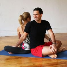 Hatha yoga poses, Poses for couples and Tandem on Pinterest