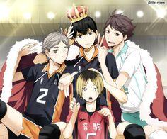 『 Haikyuu!! • ハイキュー‼︎ 』 | Sugawara, Koushi | Kageyama, Tobio | Kozume, Kenma | Oikawa, Tooru |