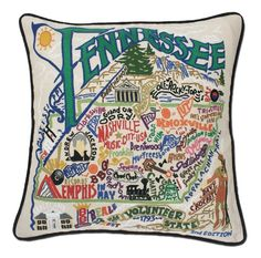 Tennessee State Pillow from SeasonsGiftsAndHome.com