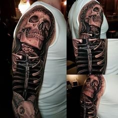Skull and Bones by @chippitattoo at Corpsepainter Tattoo And Piercing in Munich Germany. #skull #bones #crownofthornes #chippitattoo #corpsepaintertattooandpiercing #munich #germany #tattoo #tattoos #tattoosnob