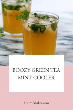 Looking for a boozy mint cooler? Click through to find out how to make this Boozy Green Tea Mint Cooler   Heart of a Baker #mintcooler #mintcoolerrecipe Easy Alcoholic Drinks, Drinks Alcohol Recipes, Come Dine With Me, Green Tea Bags, Healty Dinner, Mint Tea, Ginger Beer, Food For A Crowd, Drinking Tea
