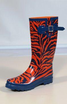 Tiger Print Rain Boot!! auburntigerstore.com. MUST HAVE!!