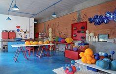 piso cimento queimado azul - Pesquisa Google