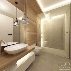 Mieszkanie w Poznaniu - Mała łazienka w bloku bez okna, styl nowoczesny - zdjęcie od ROOM STUDIO