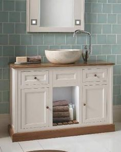 Solid Light Oak Bathroom Vanity Unit Small Cloakroom Sink Vanities ...