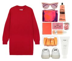 """Diffraction"" by miss-magali-mnms ❤ liked on Polyvore featuring MM6 Maison Margiela, Marc by Marc Jacobs, Off-White, J.Crew, Davines, Aesop and Ouai"