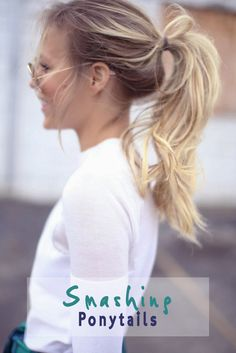 Chic ponytail styles for when I am in a hurry! #hairstyles