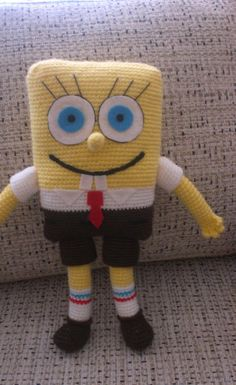 HOLY CRAP KNITTED SPONGEBOB. one day I will make this.