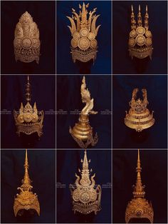 3d Art Drawing, Crown Drawing, Step By Step Painting, Painting Steps, Khmer Tattoo, Cambodian Art, Thailand Art, Thai Dress, Chinese Movies