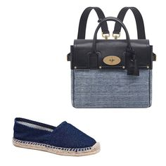 Gregory Parkinson for TTT espadrille, $125; for information: tenthousandthingsnyc.com; Mulberry Cara Delevingne bag, $1,920; mulberry.com