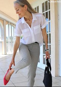 Creative Ways to Style a White Shirt | Fabulous After 40