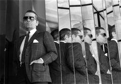 1984 - Karl Lagerfeld in the Chanel stairs by Vladimir Sichov