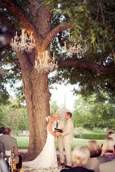 #chandeliers #outdoor #rustic #vintage {AJH Photography}