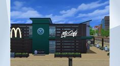 McDonalds+McCafe | Restaurant | 30x20 | by sueladysims | Welcome th the brandnew #modern#mcdonalds on the 1st & an #industrial styled mccafe on the 2nd floor in #windenburg. Check-in at the front desk & place your order. Meanwhile check the caloriechart if want to know the truth =] or study our new offerings. Paintings are all by me ;) Check my gallery if you want them for your creations! It took hours to create those logos & pictures so I hope you love it respect a creators work ;] DL, FAV…