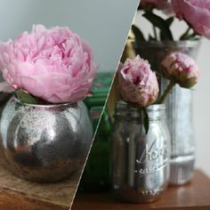 Give plain glass containers a vintage-inspired mercury glass finish in this DIY from 17 Apart.