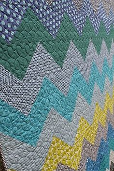 The quilting makes this quilt - and it is a simple pattern
