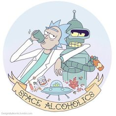 Rick And Morty/Futurama Rick And Morty Characters, Rock Poster, Fandoms, Animation, Cultura Pop, Funny Wallpapers, Pics Art, Geek Culture, Illustrations