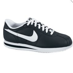 100% Authentic Nike Cortez Basic Leather Shoes Brand-new never been worn: Nike Cortez Basic Leather Mens Athletic Shoes: Color Black/white Nike Shoes