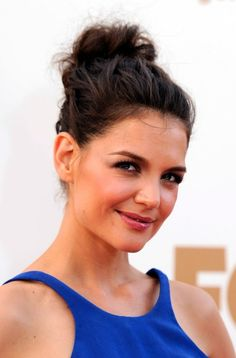 messy hihg bun | Casual Messy Loose High Bun Updo Hairstyle for 2013: Katie Holmes ...