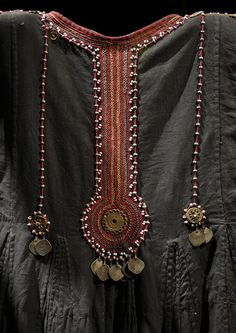 Details from a dress from Kalash, Pakistan. Early 20th century | Photo by Vassil. In the Musée du Quai Branly, Paris, collection