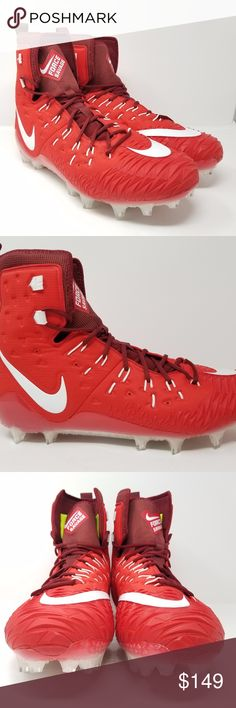 Nike Force Savage Elite TD Football Cleats Sz 18 Nike Force Savage Elite TD Men's Football Cleats Size: 18 Color: Red, White  Brand New without box. Nike Shoes Athletic Shoes