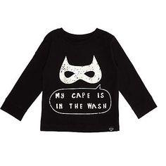 Mini boys black superhero t-shirt $16.00