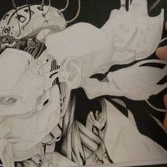 Mixed media, work in progress - trabalho em andamento #WIP #workinprogress #scifi  #sci #scifiart  #acrilycs #desenho #pen #ghostintheshell #fanart #anime#traditionalart #pencil #pencildrawing #deviantart #alangore #draugmor #mixedmedia