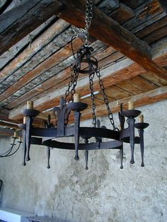 Cottage Home Furniture Wrought Iron Chandeliers Sconces Rustic Lighting, Lighting Design, Light Fittings, Light Fixtures, Wrought Iron Chandeliers, Chandelier Lighting, Table Lighting, Iron Decor, Gothic House
