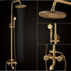 """323.40$  Watch here - http://aliglz.worldwells.pw/go.php?t=32695931715 - """"Newly Fashion 8"""""""" Round Rainfall Dual Handles  Solid Brass Antique Shower Faucet Vanity Faucet Mixer Tap Sanitary Wall Mounted"""""""