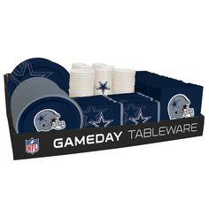 NFL 66 Package Tableware Counter Display Dallas Cowboys