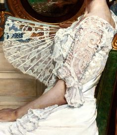 """Portrait of Mildred Stokes"" (1901) (detail) by William Sergeant Kendall (1869-1938)."