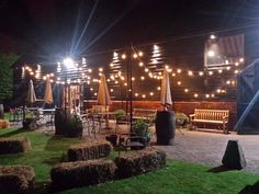 Outdoor Festoon canopy over The Great Barn Patio. A warm and welcoming space to catch up with friends. #berkshire #outdoorlighting #eventprofs #summeroffun #summer17 #festoonlighting #festoon