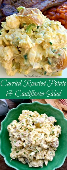 Curried Roasted Cauliflower and Potato Salad ~ A make over for traditional potato salad by roasting the potatoes and cauliflower and adding curry. ~ The Complete Savorist