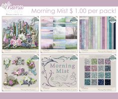 The New Coordinated Collection at #thestudio by #ManuScraps. Gorgeous! #digitalscrapbooking