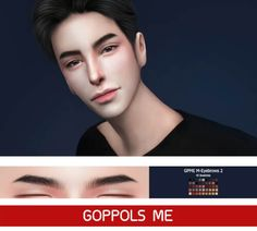Male Eyebrows 2 for The Sims 4 by GOPPOLS Me