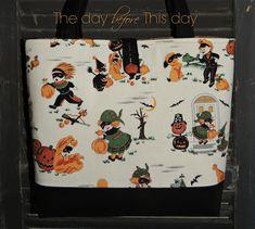 """Vintage Halloween"" Repro print tote"