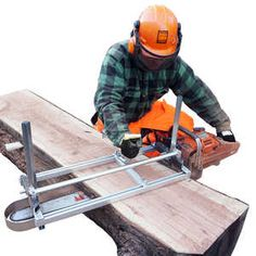 (The chainsaw's bar must be at least wide. Use the compact, lightweight Alaskan Small Log Mill with chainsaws or smaller. Three sizes of the Alaskan Mark IV Saw Mills are available for and chainsaws.
