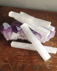 Selenite Wand for Removing Negative Energy by MoveWithTheMoon