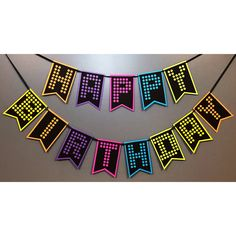 glow party banner - glow party - glow party decor - glow in the dark party - neon party - neon birthday - neon party decor - neon banner Neon Party, 11th Birthday, Gift Table, Happy Birthday Banners, Backdrops, Glow, My Etsy Shop, Tapestry, Gifts