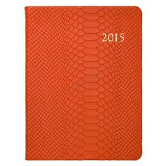 2015 Desk Diary, Metallic Embossed Python Leather 98